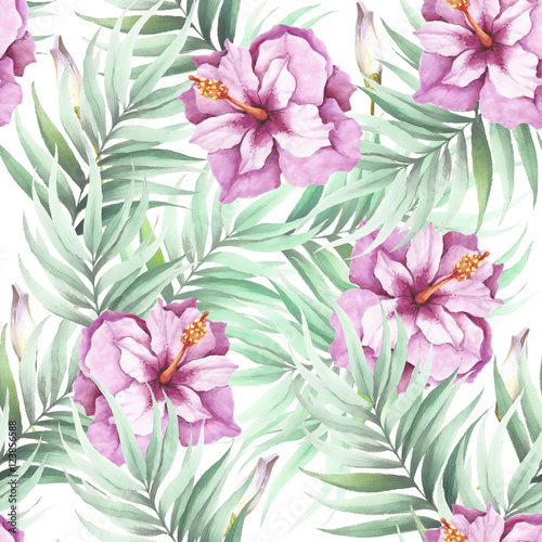 seamless-pattern-with-tropical-flowers-and-leaves