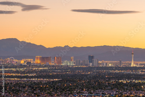Wall Murals Las Vegas Aerial view of Las Vegas strip