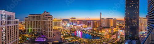 Deurstickers Las Vegas Aerial view of Las Vegas strip