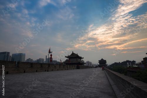 Foto op Plexiglas Xian China Xi'an City Wall