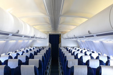 Empty Cabin Of Airplane
