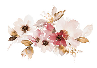 FototapetaFlowers watercolor illustration