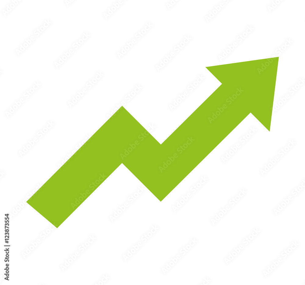 Fototapeta arrow growth graphic icon vector illustration design