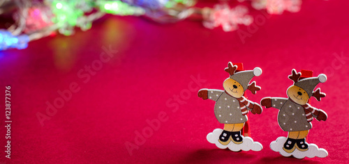 Recess Fitting Ladybugs Decorative figurines reindeer Christmas decorations