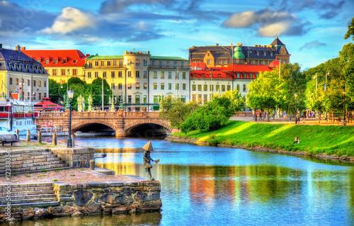 Fotografía  Canal in the historic centre of Gothenburg - Sweden
