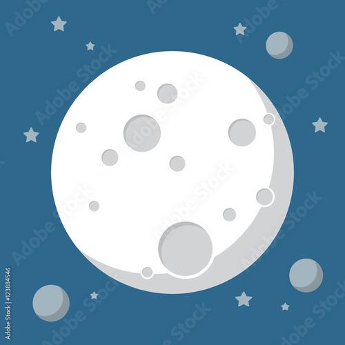 Carta da parati Moon in flat design style