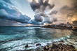 dramatic sky over Alghero at sunset