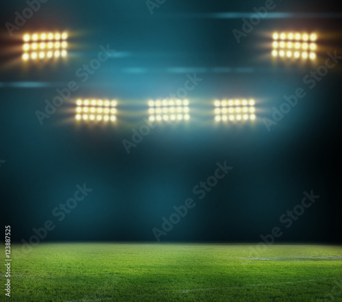 Spoed Foto op Canvas Stadion stadium in lights and flashes