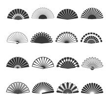 Hand Fan Vector Icons