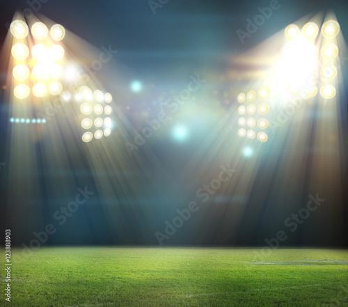 Foto op Plexiglas Stadion stadium in lights