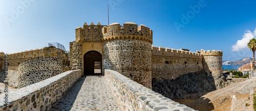Foto op Plexiglas Kasteel Panoramic view of Almuñécar (Almunecar) castle on a beautiful day, Spain