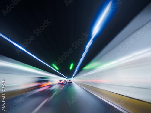 Plakat widok z tyłu tunelowy ruch, Chiny.