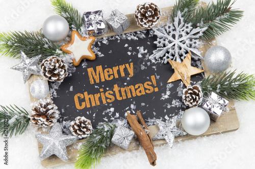Merry Christmas! Tafel festlich silber dekoriert – kaufen Sie dieses ...