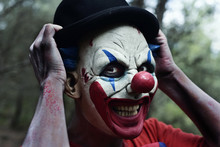 Scary Evil Clown In The Woods