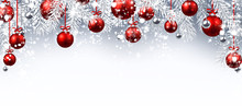 New Year Banner With Christmas...