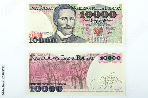 Old Polish money ten thousand zloty Fototapeta
