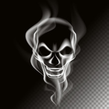 Smoke In Skull Shape