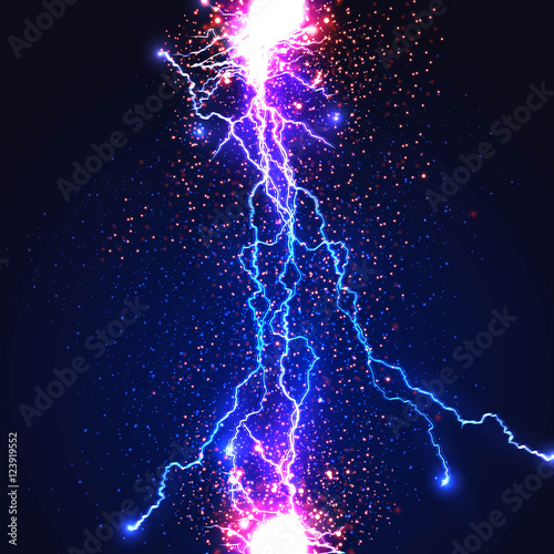 Obraz Lightning flash strike background easy all editable - fototapety do salonu