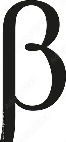 Greek beta sign Canvas Print