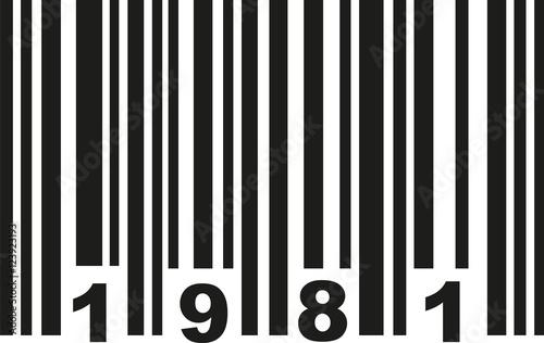 Barcode 1981 Poster Mural XXL