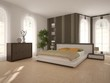 White interior design of bedroom