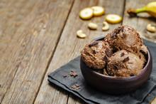 Vegan Chocolate Banana Cashew Ice Cream