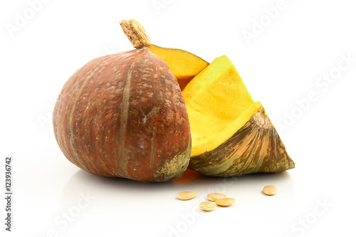 Fotografering  Pumpkin isolated on white background