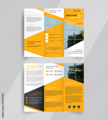 Business Tri Fold Brochure Layout Design Vector A4 Brochure