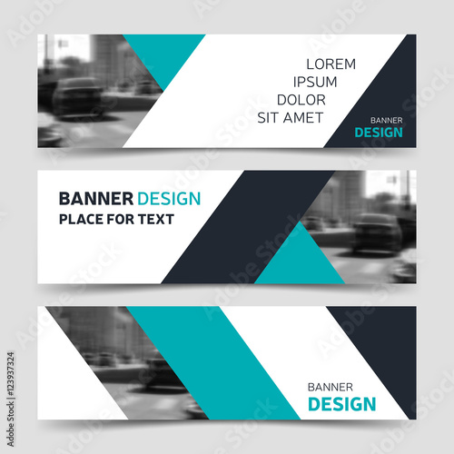 Set of blue horizontal business banner templates buy this stock set of blue horizontal business banner templates wajeb