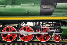Front Locomotive View. Close-u...