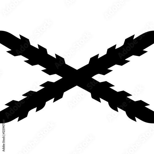 Canvas-taulu cruz de borgoña o san andres
