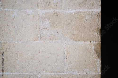 Fotografie, Obraz  Traditional white stone wall