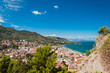 Panoramic view of the Cefalu coast in Sicily, Italy