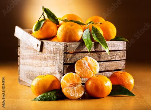 Poster Fruit fresh mandarin oranges fruit