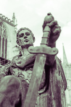 Statue Of Constantine The Great Outside York Minster England