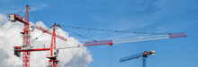 Lots Of Tower Cranes On The Bl...
