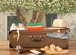 vintage valiz ve seyahat eşyaları