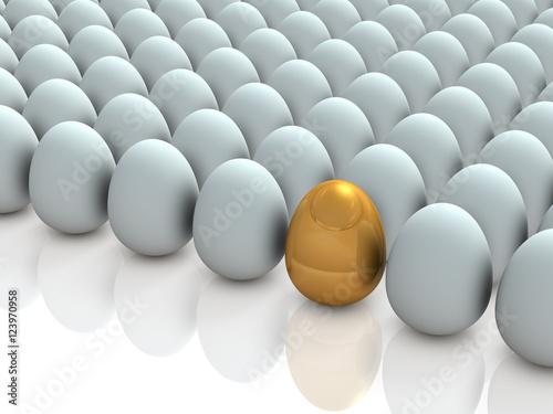Fotografie, Obraz  金の玉子を表すアブストラクト3DCGイラスト