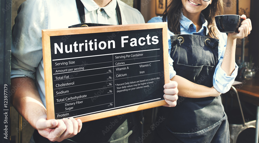 Fototapety, obrazy: Nutrition Facts Health Medicine Eatting Food Diet Concept