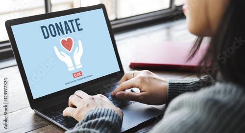 Fotografie, Obraz  Donate Charity Give Help Offering Volunteer Concept