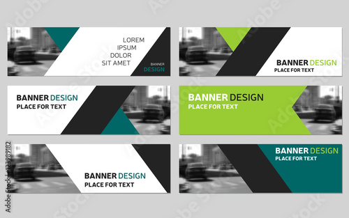 Template green horizontal banner design pictures picturesboss collection of six green horizontal business banner templates modern design jpg 500x313 template green horizontal banner fbccfo