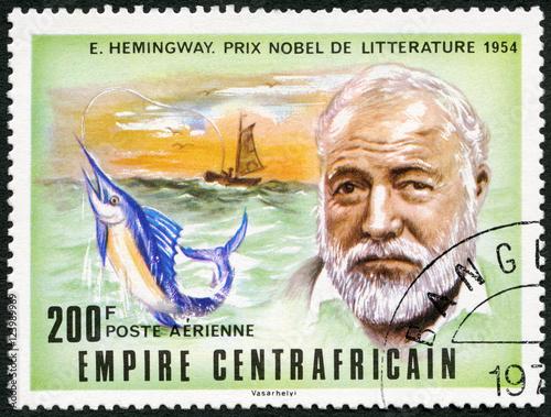 CAR - 1977: shows Ernest Hemingway (1899-1961) Canvas Print
