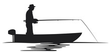 Fisherman In A Boat Silhouette