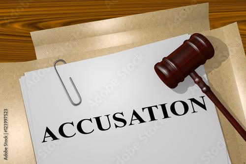 Photo Accusation - legal concept