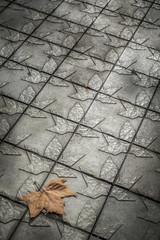 Pattern detail in a sidewalk in Barcelona Catalonia