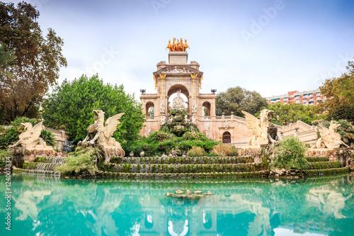 Autocollant pour porte Fontaine Parc de la Ciutadella, Barcelona, Spain