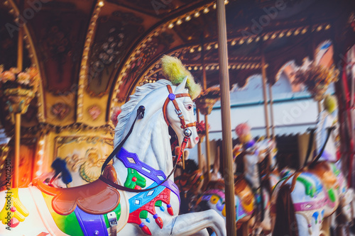 Canvas Prints Imagination Luna park - carousel ride series