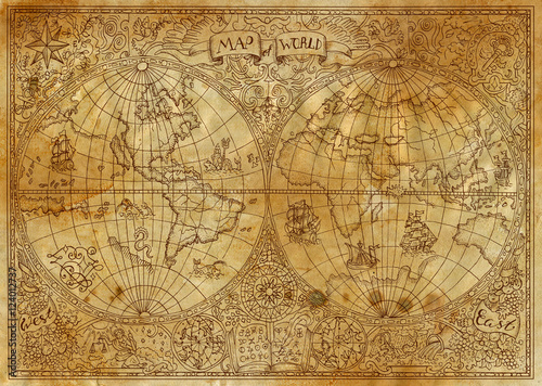 Fototapeta starożytna mapa