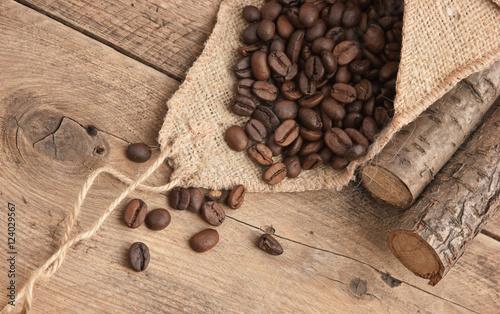 coffee beans in a bag Fototapeta