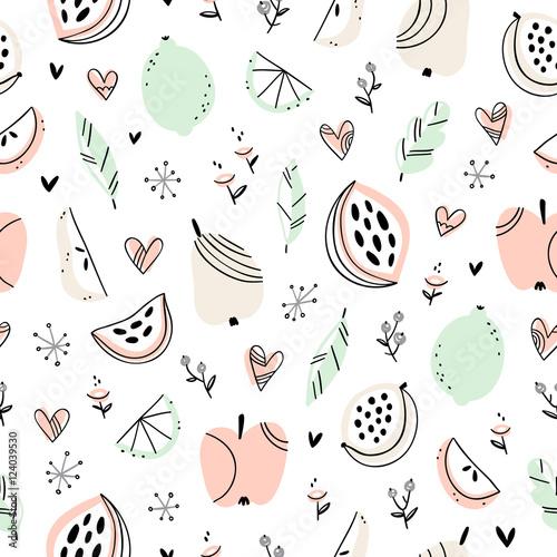 Stylizowane owoce wzór